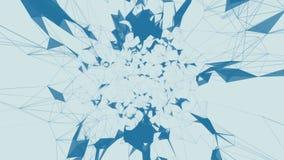 tecnologias O fundo abstrato com conexões do plexo prende a Web do quadro Dar laços sem emenda ilustração royalty free