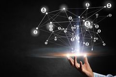 Tecnologias para a conexão dos povos Meios mistos Imagens de Stock Royalty Free