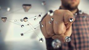 Tecnologias para a conexão Meios mistos Imagens de Stock
