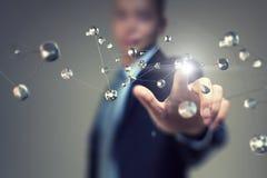 Tecnologias para a conexão Meios mistos Fotografia de Stock Royalty Free