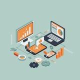 Tecnologias sem fios isométricas ilustração stock