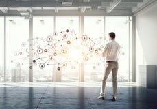 Tecnologias sociais dos trabalhos em rede Imagens de Stock