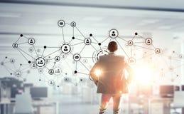 Tecnologias sociais dos trabalhos em rede Imagens de Stock Royalty Free