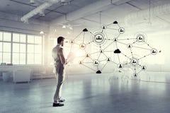 Tecnologias sociais dos trabalhos em rede Fotografia de Stock