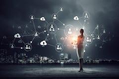 Tecnologias sociais dos trabalhos em rede Meios mistos Imagem de Stock