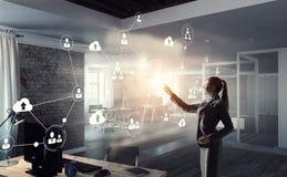 Tecnologias sociais dos trabalhos em rede Meios mistos Imagens de Stock
