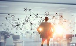 Tecnologias sociais dos trabalhos em rede Meios mistos Imagens de Stock Royalty Free
