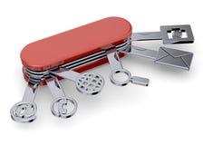 Tecnological schweizisk boxcutter - 3D Royaltyfri Bild