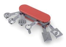Tecnological Swiss boxcutter - 3D Stock Photography
