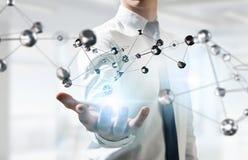 Tecnologie che collegano il mondo Media misti Immagini Stock
