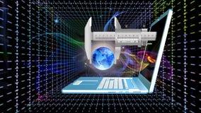 Tecnologie cosmiche di telecomunicazioni Internet Immagine Stock