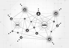 Tecnologie del collegamento per l'affare Media misti Immagini Stock Libere da Diritti