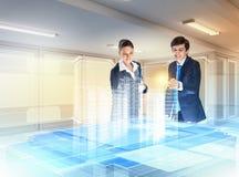 Tecnologie dell'innovazione e della costruzione immagine stock libera da diritti