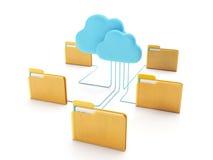 Tecnologie della nuvola Immagini Stock Libere da Diritti