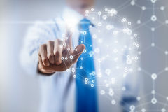 Tecnologie della rete ed interazione sociale Immagini Stock Libere da Diritti