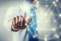 Tecnologie della rete ed interazione sociale Fotografia Stock