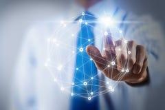 Tecnologie della rete ed interazione sociale Immagine Stock Libera da Diritti