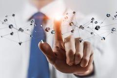 Tecnologie della rete ed interazione sociale Media misti Immagine Stock