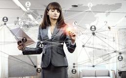 Tecnologie della rete sociale Media misti Immagini Stock