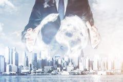 Tecnologie di affari globali Immagine Stock