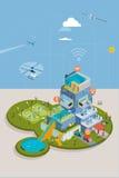 Tecnologie di automazione della casa Immagine Stock Libera da Diritti