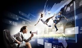 3 tecnologie di d Immagini Stock