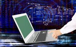 Tecnologie di Internet del computer di ingegneria Fotografie Stock Libere da Diritti