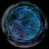 Tecnologie di Internet della rete globale Mappa di mondo di Digital immagini stock