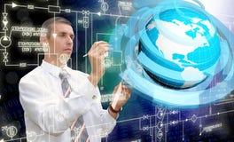 Tecnologie di Internet di ingegneria Fotografia Stock