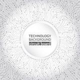 tecnologie informatiche di Ciao-tecnologia sui precedenti grigi illustrazione vettoriale