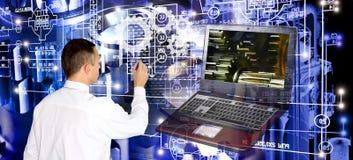Tecnologie informatiche di fabbricazione di ingegneria fotografia stock