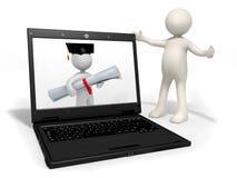 Tecnologie informatiche nella formazione royalty illustrazione gratis