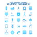 Tecnologie informatiche Tone Icon Pack blu - 25 insiemi dell'icona royalty illustrazione gratis