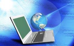 tecnologie innovarici di Internet del computer per l'affare Fotografia Stock Libera da Diritti