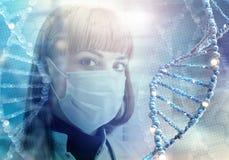 Tecnologie innovarici nella medicina elementi dell'illustrazione 3D in collage Immagine Stock Libera da Diritti