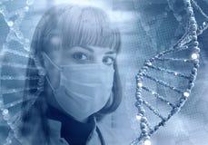 Tecnologie innovarici nella medicina elementi dell'illustrazione 3D in collage Fotografia Stock Libera da Diritti