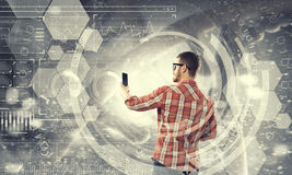 Tecnologie per collegamento e la comunicazione Fotografie Stock