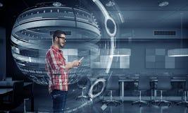 Tecnologie per collegamento e la comunicazione Immagini Stock
