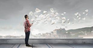 Tecnologie per collegamento e la comunicazione Immagine Stock