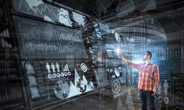 Tecnologie per collegamento e la comunicazione Fotografia Stock