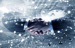 Tecnologie per collegare la gente Media misti Fotografia Stock