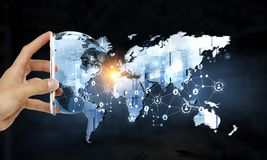 Tecnologie per la comunicazione globale Fotografie Stock Libere da Diritti