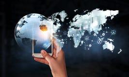 Tecnologie per la comunicazione globale Immagine Stock Libera da Diritti