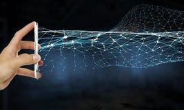 Tecnologie per la comunicazione globale Fotografie Stock