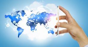 Tecnologie per la comunicazione globale Immagini Stock
