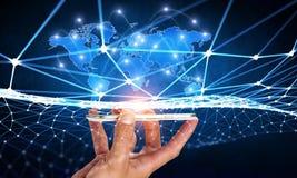 Tecnologie per la comunicazione globale Immagine Stock