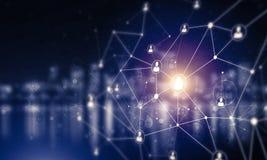 Tecnologie wireless moderne come mezzi di communucation e di netwo Immagini Stock