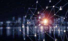 Tecnologie wireless moderne come mezzi di communucation e di netwo Fotografie Stock