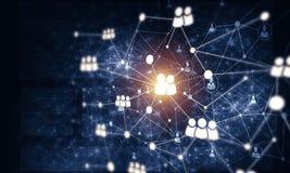 Tecnologie wireless moderne come mezzi di communucation e di netwo Immagine Stock