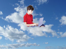 Tecnology and child Royalty Free Stock Image